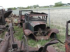 Rusty 1929 or 1930 Chevrolet sedan