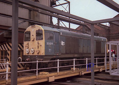 20011 at Derby Open Day 16/09/1989 (hetsc68) Tags: class20 20011 derby derbyopenday britishrail 1989 september 16091989