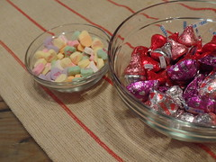 Sweet Hearts (emilyc690) Tags: hearts candy hersheys chocolate pink red bowl food