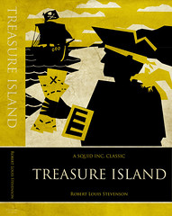 treasure island: front cover + spine (Iain Burke) Tags: school fiction colour art yellow illustration typography layout gold reading design graphicdesign spring student ship treasureisland map pirates parrot books literature adventure fantasy rawr classics font april novel iain bookcover yohoho stories parsons burke trajan studentwork kevinsmith seas buccaneers schoolwork 2010 yar longjohnsilver newschool bookdesign childrenbook sevenseas bookcoverdesign printdesign parsonsschoolofdesign treasuremap skeletonisland shockvalue layoutdesign april2010 iainburke spring2010 bookcoverproject childrenclassics octopocalypse iainvandoucheberg vandoucheberg