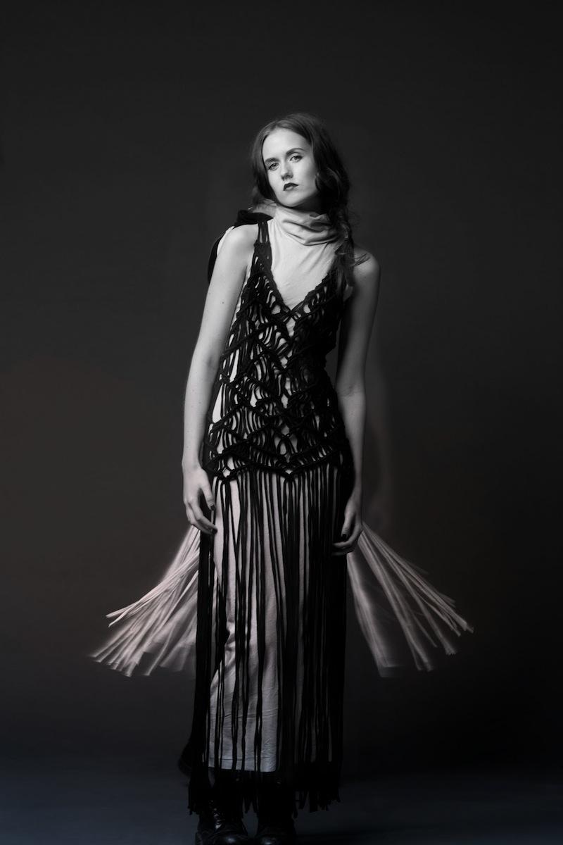 Poola Kataryna Odd Couture jersey macrame dress