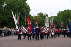ISB120 2011 019 (Howard.) Tags: london drums flag flags parade uniforms 2011 holdings staffband isb120