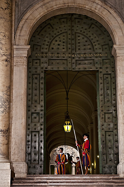 The Swiss Guard in Vatican City