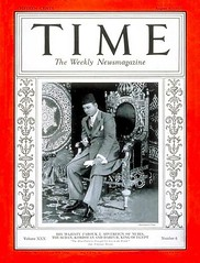 King Farouk on the cover of the time for the first time (Kodak Agfa) Tags: people history media egypt cover magazines timemagazine egyptians coverboy
