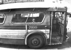 NYC MTA Bus Peering Child 1977 70s - 50 Cent Fare (Whiskeygonebad) Tags: money bus brooklyn rivets alone child circles style tires nostalgia innocence 70s mta hood lonely 1977 seventies fare reflector boropark bampw surfacetransit nineteenseventies
