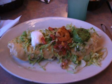 Seafood burrito