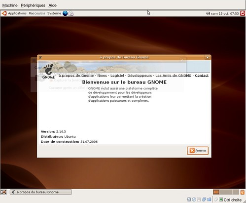 gnome 2.14.3 sous Ubuntu 6.06.1 LTS