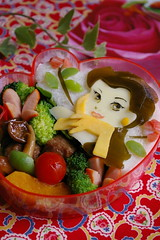 Beauty and the beast bento (luckysundae) Tags:
