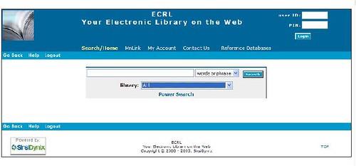 ECRL new online catalog