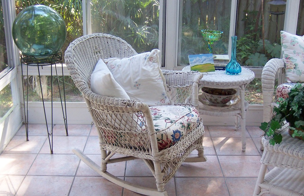 Sunroom Wicker Rocker