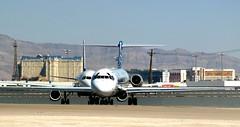 Holding Short - Allegiant Air DC-9-83(MD-83) N877GA (BOSOX Photographix) Tags: las vegas holding air short allegiant n877ga dc983md83
