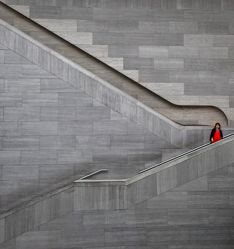 Stairs #4 (Red Lady) by andertho