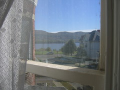 this morning in the bedroom (outside) (Anna @ D16) Tags: morning sunshine bedroom myhouse hudsonriver newburgh