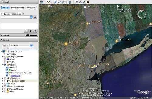 Clima de Google Earth