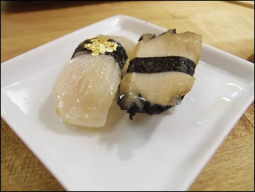 Go's Mart (Canoga Park) - Clam and Abalone sushi