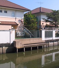 New house with boat crane