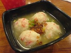 Crab and Corn Dumpling soup