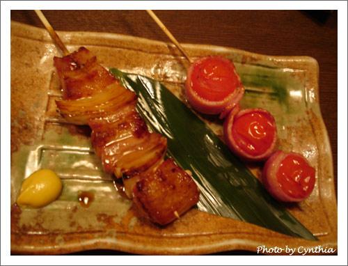 トマトベーコン串/豚バラ串