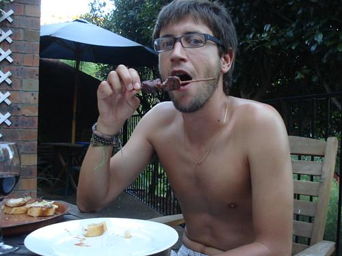 Comiendo kangurito