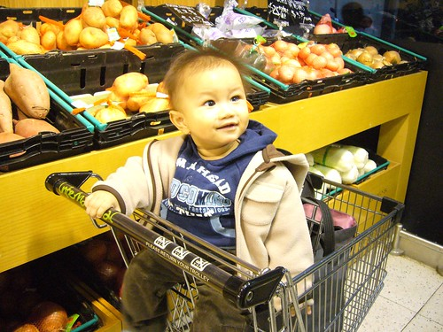 shopping for new year day's dinner (for daddy & mommy, not me)