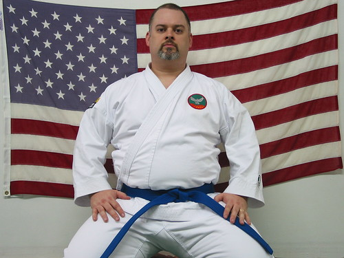 Wow. Its tough to look at myself in a blue belt.