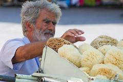 Sponge merchant (Victor van Dijk (Thanks for 3.8M views!)) Tags: street portrait favorite canon greek candid hellas fave greece sponge griechenland rodos rhodes sponges rhodos faved griekenland grieks rhodoscity sponzen victormk1 wwwvictorvandijkcom