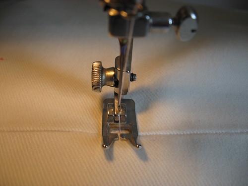 Colocação do ziper invisível