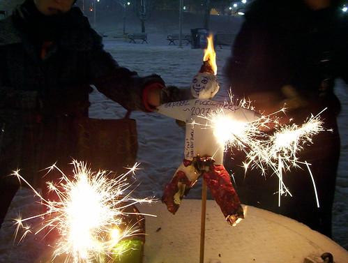 Sparklers alight!