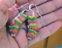 January Sock Earrings