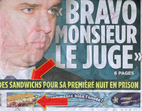 Annonce Subway Journal de Montréal