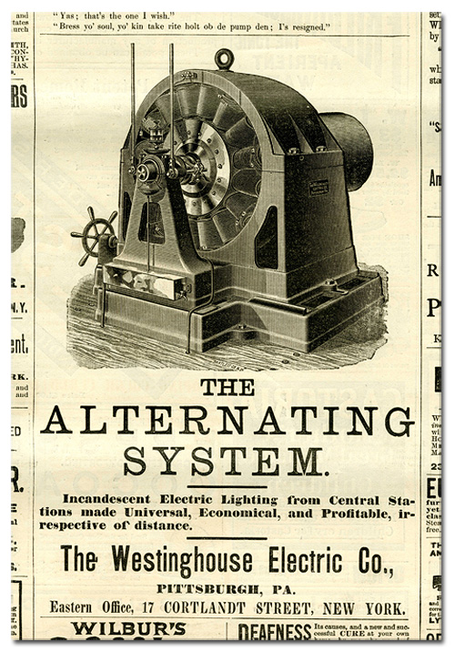 Westinghouse Alternating Current Advertisement 19th Century