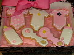Baby Girl Cookies (irresistibledesserts) Tags: baby girl cookies