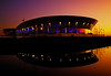 Double Echo (BarneyF) Tags: sunset reflection building silhouette night liverpool arena merseyside capitalofculture liverpoolecho liverpool08