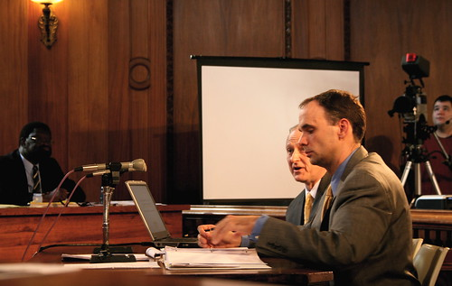 Lisauskas, right, with city auditor Mark Ianello in 2008.