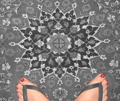 Persian carpet (Banafsh*) Tags: feet carpet iran persia ایران فرش flipflap قالی پا دمپایی