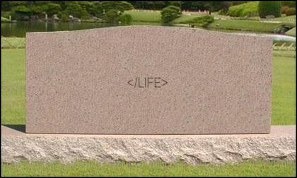 生命的結束之 WEB2.0墓碑