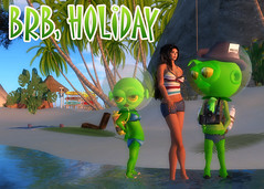 Greenies Postcard: BRB, Holiday