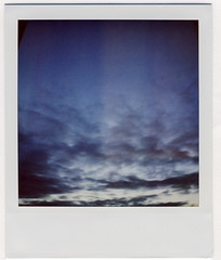 Nautical Twilight (daveotuttle) Tags: light sky clouds portland polaroid sx70 twilight soft eveningsky nofilter nwportland 600film nauticaltwilight 906pm may62008