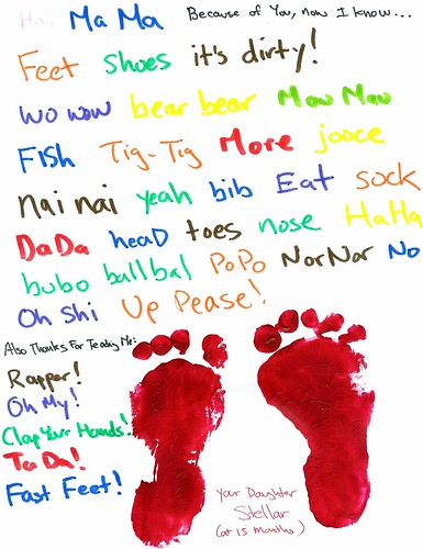 stellar's feet prints