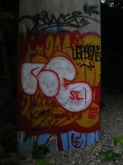 5/20/08 Percival Creek & Cooper Point (sixheadedgoblin) Tags: spray scrawl publicart stl olympiawashington riner kevinharris percivalcreekcooperpoint