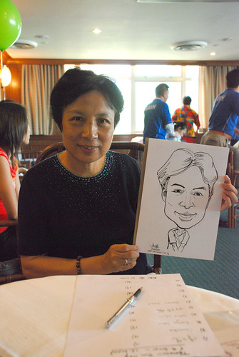 Caricature live sketching Temasek Fun Day 1