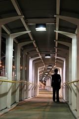 cryptography (maybemaq) Tags: station businessman architecture night walking pattern loneliness geometry platform pass corridor australia tunnel warp trainstation perth breathtaking slope nightwalk cryptography eyewashdesign mbius maybemaq claisebrook