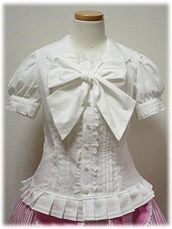 Angelic Pretty Marine Ribbon Blouse (white) por onmyou_dix.
