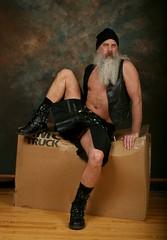Rocking a Kilt (Cowboy Tommy) Tags: kilt vest boots leather crotch bulge cock dick penis upkilt frontal sneekapeek peeking whatsunderthekilt freeballing hung sex sexy hairy legs beard muscle muscles portrait