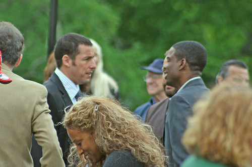 Adam Sandler pic: First day of filming in Southborough