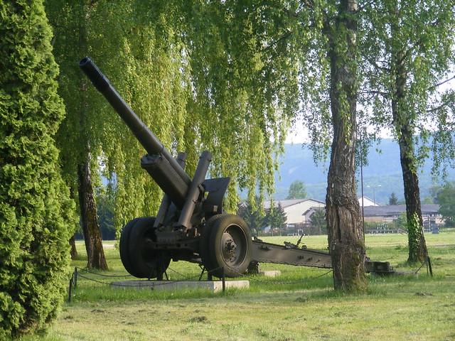 Big Gun at Army Base in Petrinja