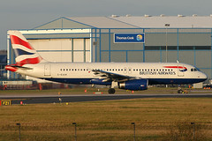 G-EUUK - 2002 build Airbus A320-232, vacating Runway 05L on arrival at Manchester (egcc) Tags: man manchester airbus ba britishairways a320 baw ringway 1899 egcc a320232 geuuk