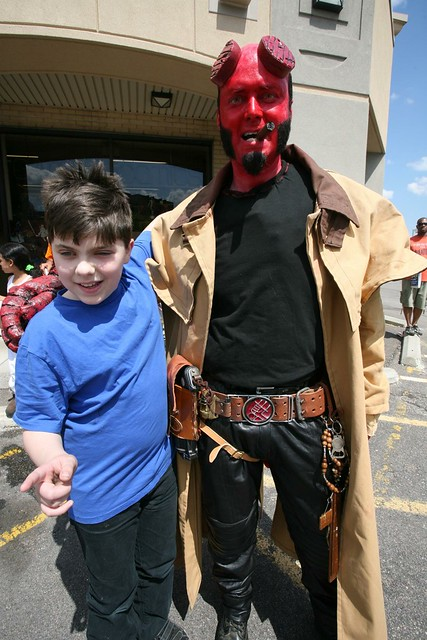 my boy with Hellboy