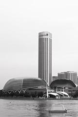 The esplanade (Syahraki Syahrir) Tags: blackandwhite canon buildings landscape singapore southeastasia cityscape 100mm esplanade marinabay eos5dm2