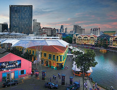 Clarke Quay  For those who wants a night of fun... (williamcho) Tags: boats singapore colorful ngc central restaurants jazz blues clubs pubs clarkequay singaporeriver d300 riversidepoint rivertaxi entertainmentdistrict capitaland astoundingimage williamcho